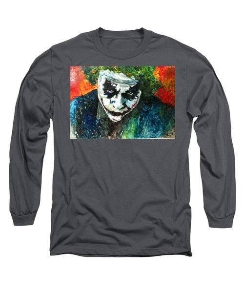 Joker - Heath Ledger Long Sleeve T-Shirt