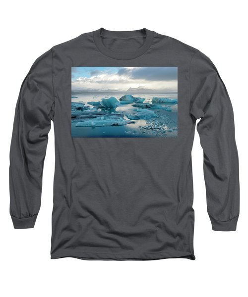 Jokulsarlon, The Glacier Lagoon, Iceland 6 Long Sleeve T-Shirt by Dubi Roman