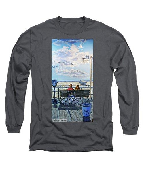 Jones Beach Boardwalk Long Sleeve T-Shirt
