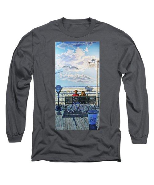 Jones Beach Boardwalk Towel Version Long Sleeve T-Shirt