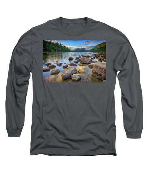 Jordan Pond And The Bubbles Long Sleeve T-Shirt by Rick Berk