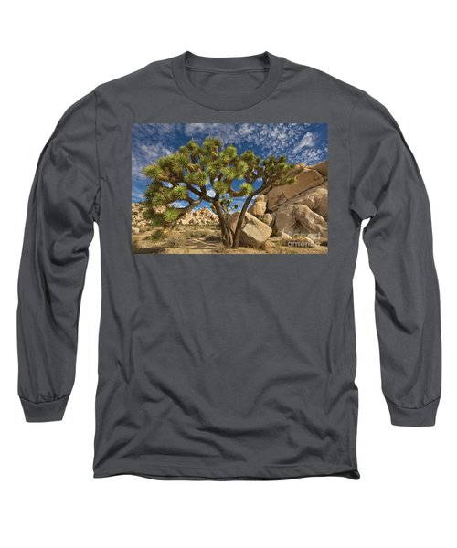 Joshua Tree And Blue Sky Long Sleeve T-Shirt