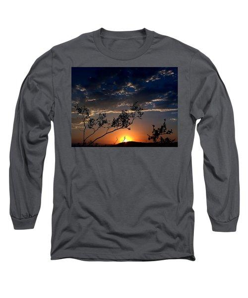 Joshua Tree Sunset Long Sleeve T-Shirt by Chris Tarpening