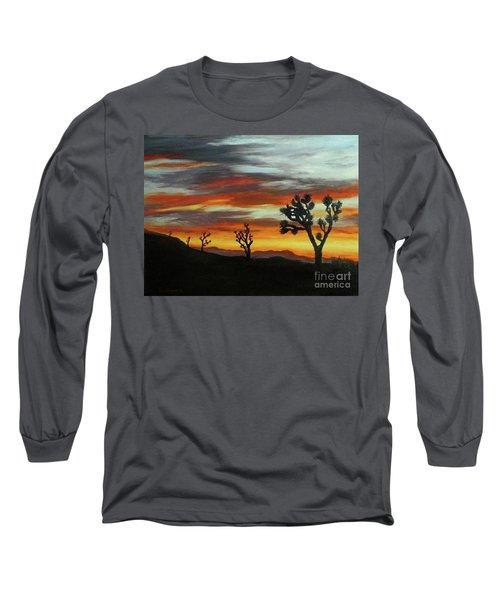 Joshua Trees At Sunset Long Sleeve T-Shirt