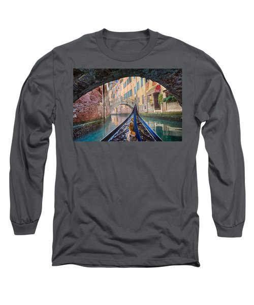 Journey Through Dreams - A Ride On The Canals Of Venice, Italy Long Sleeve T-Shirt