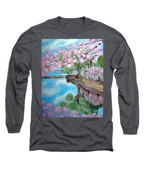 Joy Of Spring. Acrylic Painting For Sale Long Sleeve T-Shirt