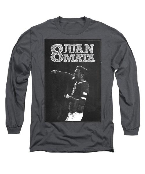 Juan Mata Long Sleeve T-Shirt by Semih Yurdabak