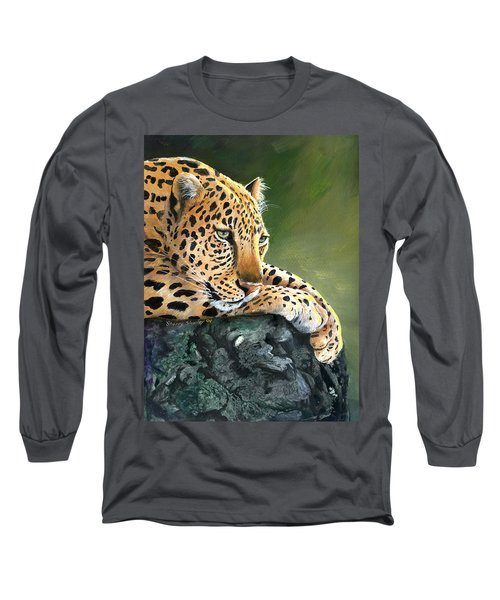 Long Sleeve T-Shirt featuring the painting Jumanji by Sherry Shipley