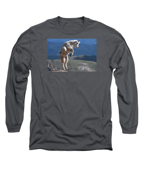 Long Sleeve T-Shirt featuring the photograph Jump by Gary Lengyel