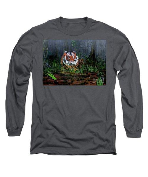 Jungle Cat Long Sleeve T-Shirt by Myrna Walsh