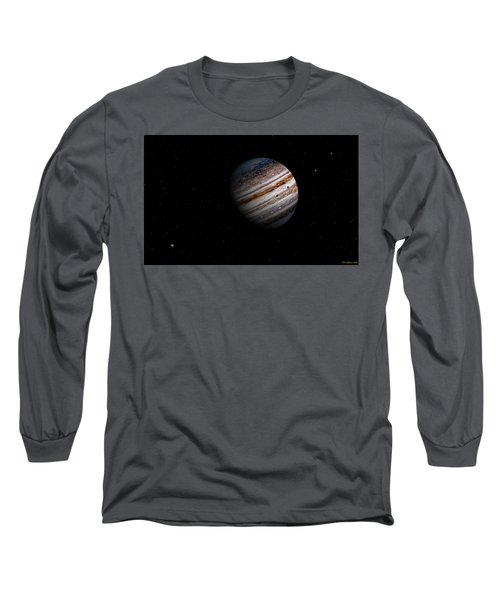 Jupiter And It 4 Major Moons Long Sleeve T-Shirt