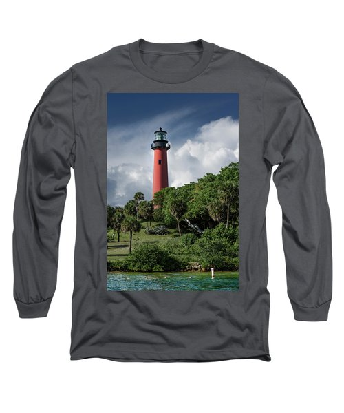 Jupiter Inlet Lighthouse Long Sleeve T-Shirt by Laura Fasulo