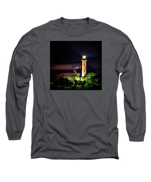 Jupiter Lighthouse Lightning Long Sleeve T-Shirt