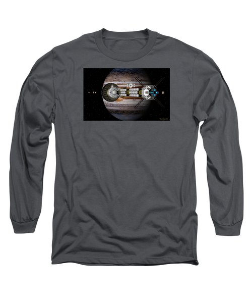 Long Sleeve T-Shirt featuring the digital art Jupiter Looming by David Robinson