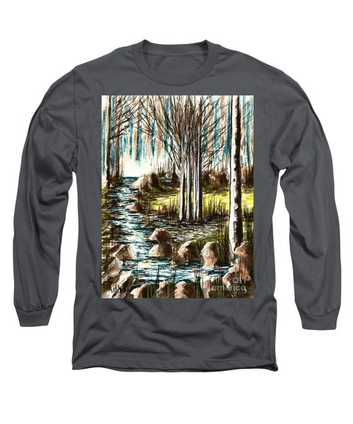 Just Around The Riverbend  Long Sleeve T-Shirt