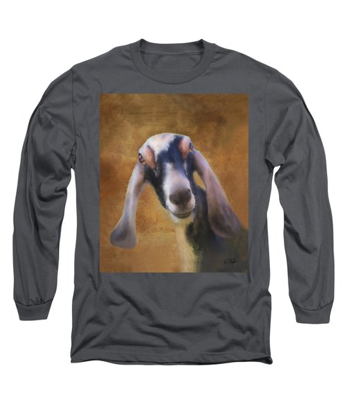 Long Sleeve T-Shirt featuring the mixed media Just Kidding Around by Colleen Taylor