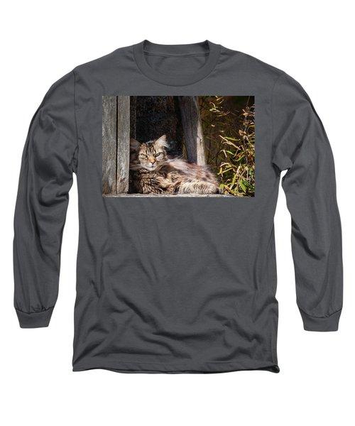 Just Lazing Around Long Sleeve T-Shirt