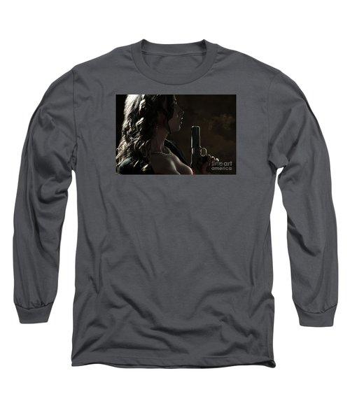Just Shot That 45 Long Sleeve T-Shirt by David Bazabal Studios
