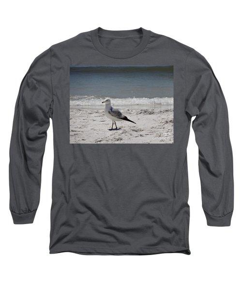 Just Strolling Along Long Sleeve T-Shirt by Megan Cohen