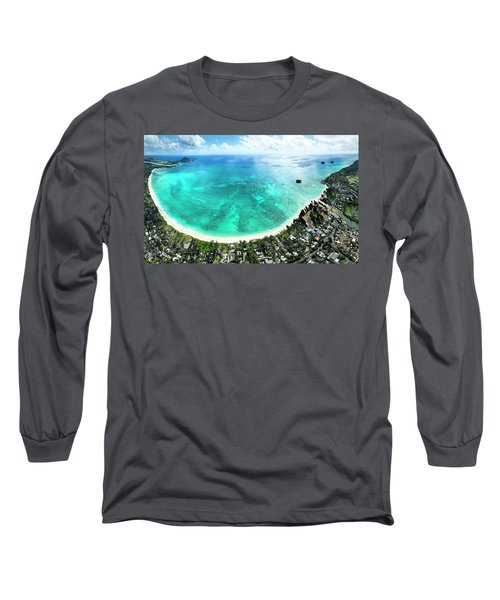 Kailua - Lanikai Overview Long Sleeve T-Shirt