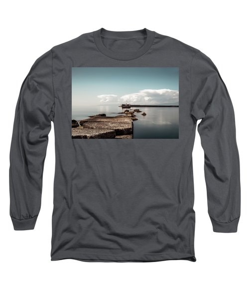 Kalamata Port / Greece Long Sleeve T-Shirt by Stavros Argyropoulos