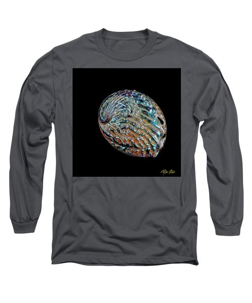 Long Sleeve T-Shirt featuring the photograph Kaleidoscope Abalone by Rikk Flohr