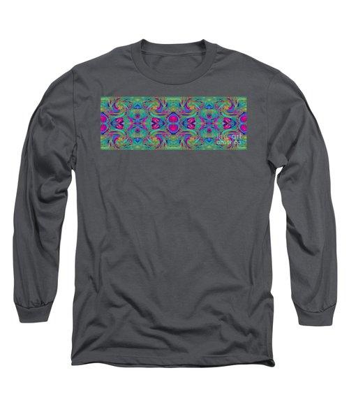 Kaleidoscope Heart Long Sleeve T-Shirt by Expressionistart studio Priscilla Batzell