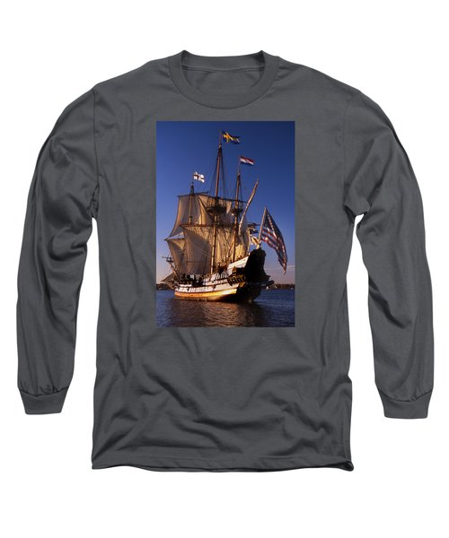 Kalmar Nyckel Long Sleeve T-Shirt by Skip Willits