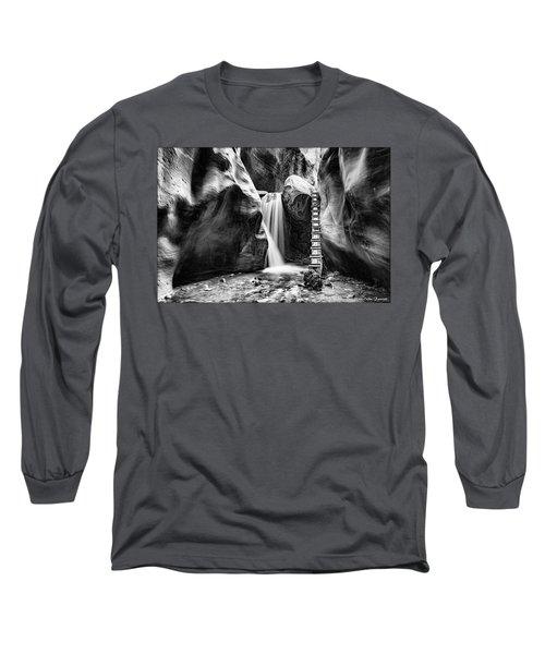 Kanarraville Falls Bw Long Sleeve T-Shirt