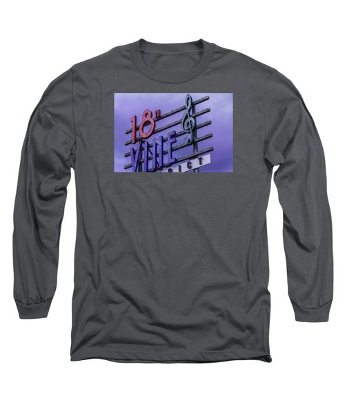 Kansas City 18th And Vine Sign Long Sleeve T-Shirt