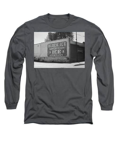 Long Sleeve T-Shirt featuring the photograph Kansas City Ghost Mural Bw by Frank Romeo