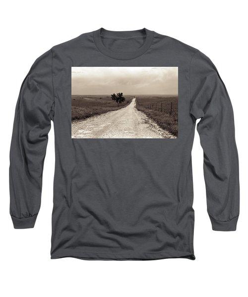 Kansas Country Road Long Sleeve T-Shirt