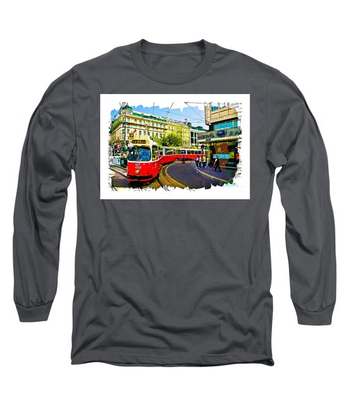 Long Sleeve T-Shirt featuring the photograph Kartner Strasse - Vienna by Tom Cameron