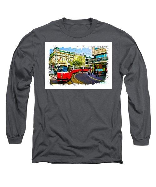 Kartner Strasse - Vienna Long Sleeve T-Shirt by Tom Cameron