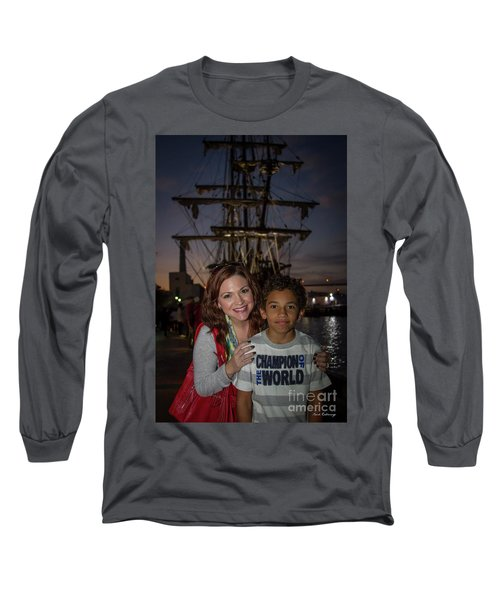 Long Sleeve T-Shirt featuring the photograph Katy And Baby James Art by Reid Callaway