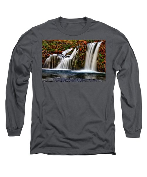 Long Sleeve T-Shirt featuring the photograph Kay Falls by Scott Mahon