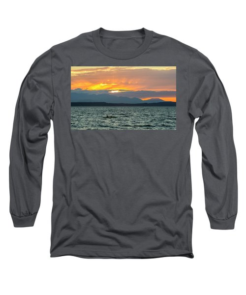 Kayaking In The Puget Sound Long Sleeve T-Shirt