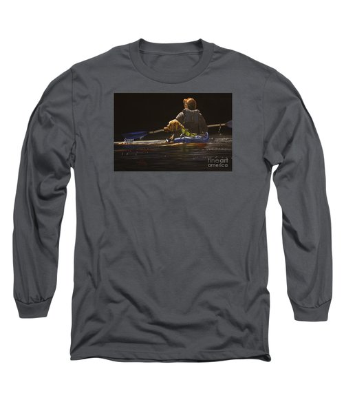 Kayaking With Your Best Friend Long Sleeve T-Shirt by Laurie Tietjen