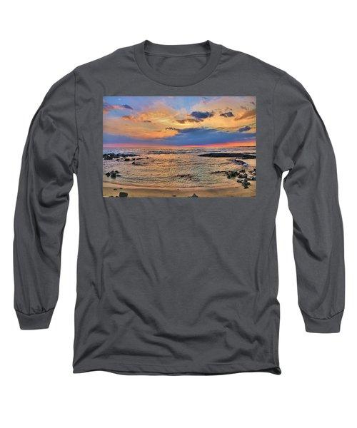 Long Sleeve T-Shirt featuring the photograph Keahuolu Point by DJ Florek