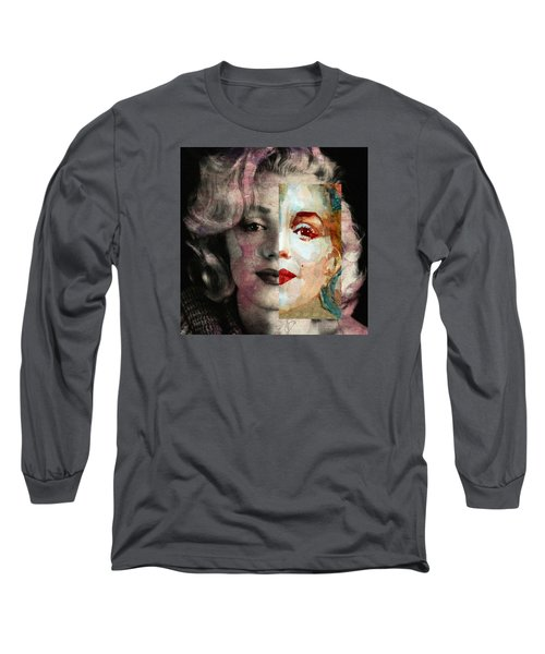 Long Sleeve T-Shirt featuring the painting Keep Me Safe Lie With Me Stay Beside Me Don't Go by Paul Lovering