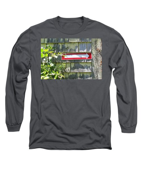 Long Sleeve T-Shirt featuring the digital art Keep To The Right by Barbara S Nickerson