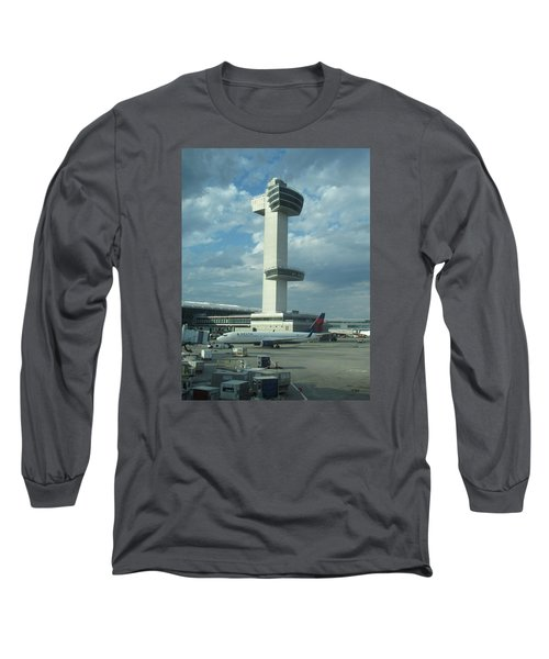 Kennedy Airport Control Tower Long Sleeve T-Shirt by Christopher Kirby