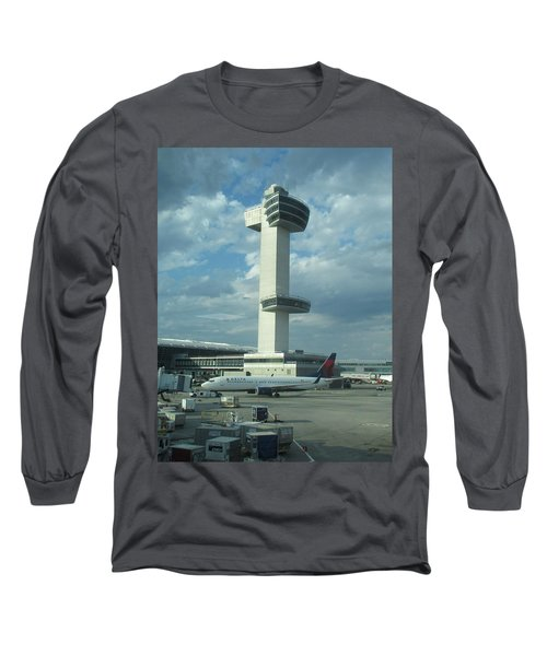 Kennedy Airport Control Tower Long Sleeve T-Shirt