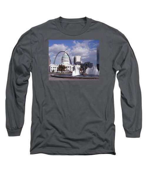 Long Sleeve T-Shirt featuring the photograph Kiener Plaza - St Louis by Harold Rau