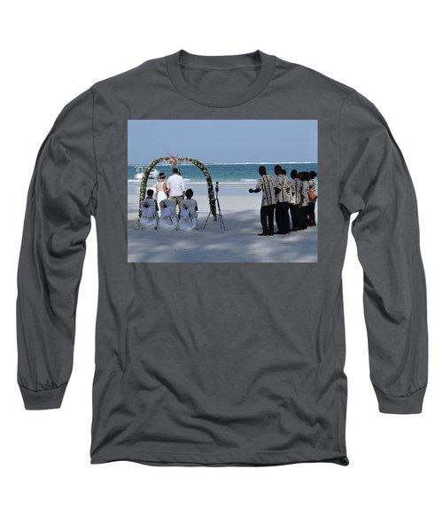 Kenya Wedding On Beach Happy Couple Long Sleeve T-Shirt