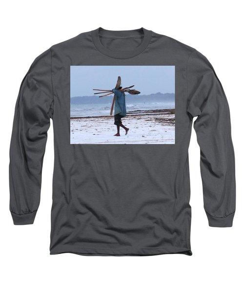 Kenyan Fisherman And Oars Long Sleeve T-Shirt