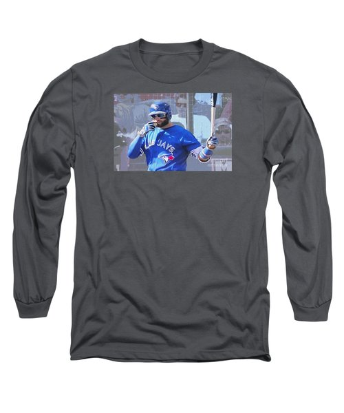Kevin Pillar At Bat Long Sleeve T-Shirt by Nina Silver