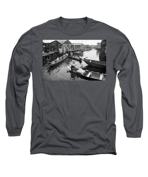 Waterways And Canoes Long Sleeve T-Shirt