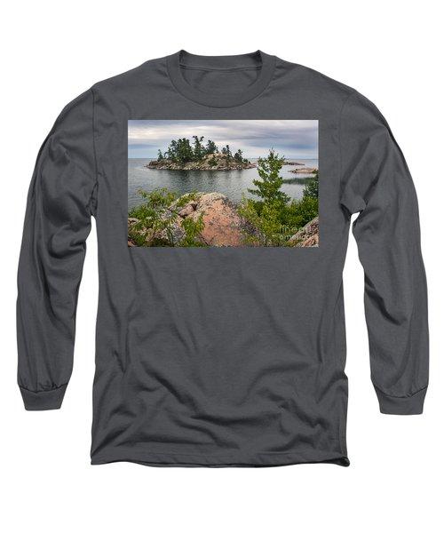Killarney-island-pink-4513 Long Sleeve T-Shirt