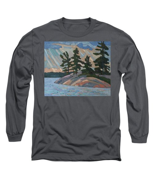 Killbear Pines And Morning Crepuscular Rays Long Sleeve T-Shirt